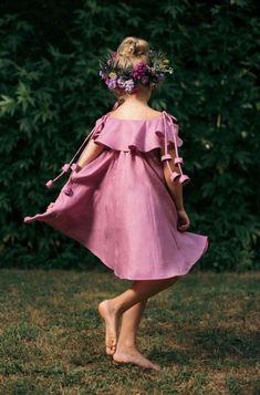 Girls Handmade Linen Dress | littlegoodall on Etsy