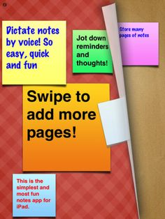 Stickie Notes app  Great for making webs or noting details of a story