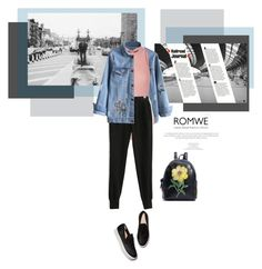"""""""Romwe"""" by mycherryblossom ❤ liked on Polyvore featuring Identity and Ballet Beautiful"""