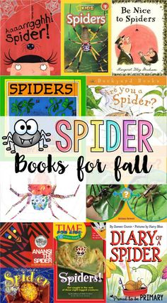 Lists for teachers of favorite children's books for fall. Includes fiction and non-fiction books about pumpkins, leaves, spiders, bats, and owls. Autumn Activities, Book Activities, Reading Resources, Spider Book, Muñeca Diy, Preschool Books, Preschool Ideas, Teaching Ideas, Preschool Lessons