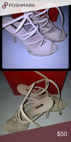 0203cb3b8d0472 NWT GUESS heels Light cream colored. Brand new. Size 8.5. 5 inch heel
