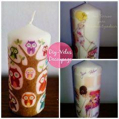 DIY con velas decoradas con decoupage | Aprender manualidades es facilisimo.com