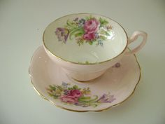 Pretty Foley pink teacup and saucer, E. Brain Foley pink tulip cup and saucer, Foley Tulip cup and saucer, pink and flowers cup and saucer by TorontoTreasures on Etsy https://www.etsy.com/listing/464480709/pretty-foley-pink-teacup-and-saucer-e