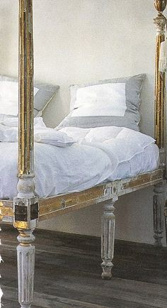 Neoclassical great bed and pillows!
