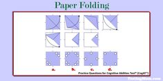 Can your child solve this paper folding practice question for the #CogAT?