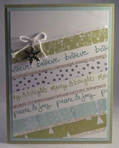 Stampin up Good Greetings 2014 hostess set with All is Calm DSP Christmas card by Gloria Kremer facebook: Girlfriend Originals