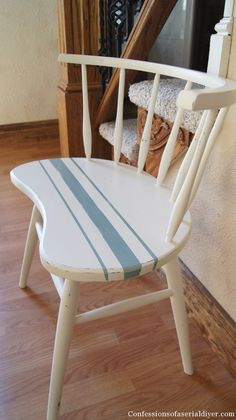 Grain Sack Painted Chair is part of Painted chair - Well hello there! I'm so glad you dropped by because I love when you visit! Come on in, I have a great chair makeover to share with you today Do you