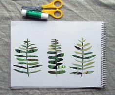 Leaf art project