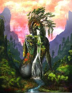 All information about Mother Nature Fantasy Art. Pictures of Mother Nature Fantasy Art and many more. Art Et Nature, Nature Artwork, Nature Drawing, Drawing Drawing, Drawing Ideas, Fantasy Kunst, Fantasy Art, Fantasy Trees, Art Amour