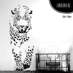 #ViniloDecorativo de un #leopardo / #Leopard #WallSticker  #VinilosDecorativos #WallDecals