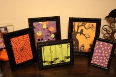 Easy DIY Dollar Store Halloween Decoration. Could work for other holidays as well with different colors and papers.