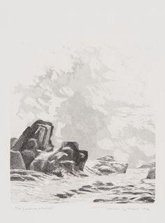 Tuulikki Pietilä: Jäätynyt meri Finland, Printmaking, Black And White, Canvas, Drawings, Painting, Outdoor, Image, Painting & Drawing