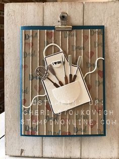 BBQ, Father's Day or Masculine Birthday, Couple's Shower Apron of Love Card - Stampin' Up! tutorial video included