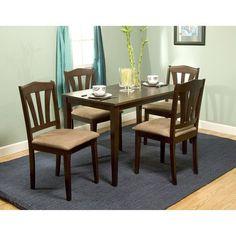 Metropolitan 5-piece Dining Set - http://www.furniturendecor.com/metropolitan-5-piece-dining-set/ - Dining Room Furniture, Dining Room Sets, Furniture, Home and Kitchen