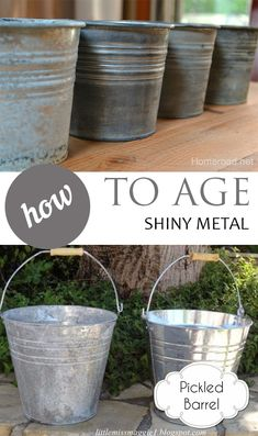 How to Age Shiny Metal Rustic Home Decor Rustic Living Room Home Decor on A Budget DIY Home Improvement Farmhouse Decor Farmhouse Home FarmhouseHome FarmhouseDecor RusticHomeDecor HomeDecor Diy Home Decor Rustic, Easy Home Decor, Rustic Garden Decor, Rustic Room, Rustic Crafts, Garden Decorations, Country Decor, Farmhouse Homes, Rustic Farmhouse