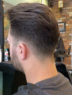 40 Upscale Mohawk Hairstyles for Men back-swept tapered haircut for men Medium Hair Cuts, Short Hair Cuts, Short Hair Styles, Medium Hairstyles For Men, Fade Haircut Styles, Beard Styles, Low Fade Haircut, Taper Haircut Back, Tapered Haircut Men