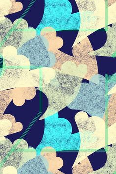 I see many hearts Textures Patterns, Fabric Patterns, Print Patterns, Artsy Background, Turquoise Art, Textile Prints, Textiles, Colour Board, Pattern Illustration