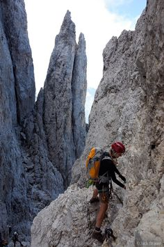 Dolomites, Italy. via ferrata