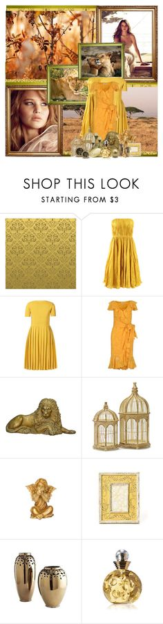 """Nala"" by alasombradelossauces ❤ liked on Polyvore featuring Oscar de la Renta, Orla Kiely, Moschino, House & Home, Anthropologie, Christian Dior, the lion king, characters, jennifer and simba"