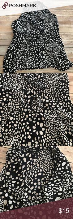 Express Tank Black and white polka dot Tank! Cute style! Express Tops Tank Tops