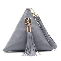 Fashion Mini Tassel Clutch Leather Bag Designer Purse Famous Brand Women Fringe Handbag Evening Bag Bolsa  WZ64
