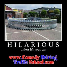 HILARIOUS, unless it's your car #defensivedriving  #defensivedrivingflorida  #safedriving  #safedrivingflorida  #trafficschool  #trafficschoolflorida  #followme #hilarious #funny #grocerycarts #prank  http://www.comedydrivingtrafficschool.com/