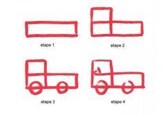 Apprendre à dessiner Un camion - Dessins simples
