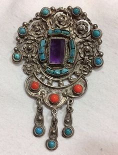 Image result for turquoise silver mexican pendants #artesaniasmexico