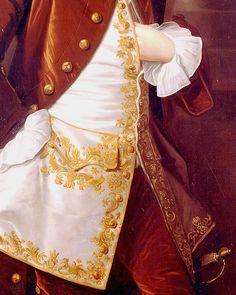 Portrait of a Man (detail), by Thomas Hudson.