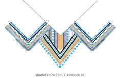 Ethnic Neck Embroidery for fashion and other uses in vector Lace Border, Points, Textile Design, Aztec, Textiles, Base, Embroidery, Patterns, Abstract