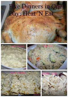 Prepare your week's worth of dinners all in one day from the same two whole chickens! 5 Dinners in One Day: Heat 'N Eat!