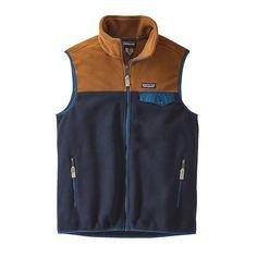 M's Lightweight Synchilla® Snap-T® Vest, Navy Blue w/Bear Brown (NVBB)