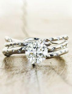 Nature inspired engagement ring - Aurora Diamonds