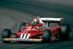 Niki Lauda (AUT) (Scuderia Ferrari SpA SEFAC), Ferrari 312T2, Ferrari Tipo 015 3.0 F12 (finished 5th), French Grand Prix, Circuit de Dijon-Prenois, 1977. © Scuderia Ferrari SpA