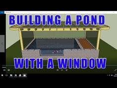 Koi Pond Construction with Window. - YouTube