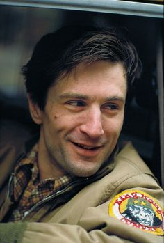 Robert De Niro on the set of 'Taxi Driver', 1976.