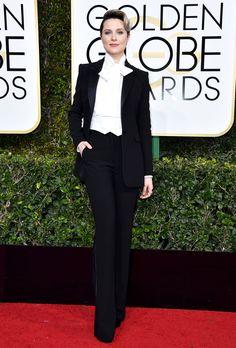 Evan Rachel Wood Suit: custom Altuzarra Evan Rachel Wood, Marlene Dietrich, Blake Lively, David Bowie, Golden Globe Awards 2017, Alexandra Shipp, Dior Gown, Look Formal, Three Piece Suit
