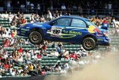 Travis Pastrana in a Subaru