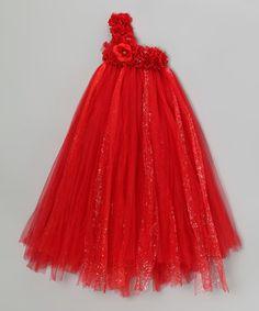 Look at this #zulilyfind! Bébé Oh La La Red Rose Blossom Tutu Dress - Infant, Toddler & Girls by Bébé Oh La La #zulilyfinds