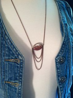 Copper Sunset Chain Necklace by DistractedRenegade on Etsy, $15.30