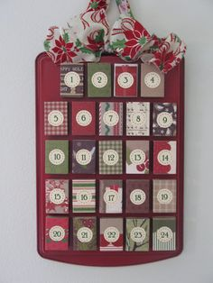 This advent calendar is made from matchboxes! Perfect for holding little candies, quotes, scriptures or activity ideas.