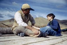Ernest Hemingway with his son Gregory, Sun Valley, Idaho, 1941 by Robert Capa