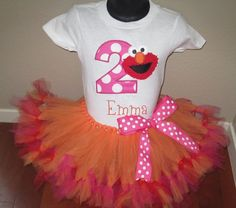 Personalized Elmo Birthday Design - Large Dot