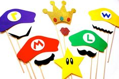 Super Mario Bros. Themed Photo Booth Props  by TheManicMoose