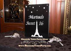 Paris theme Sweet 16 signin book