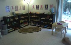 This is exactly how I would want to set up our house!!   Peaceful Parenting: Our Montessori Home Preschool