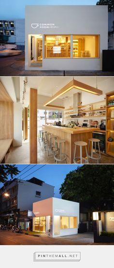 Common room x Ari by party/space/design, Bangkok – Thailand Cafe Shop Design, Coffee Shop Interior Design, Bakery Design, Restaurant Design, House Design, Cozy Coffee Shop, Small Coffee Shop, Cafe Concept, Shop Interiors