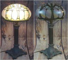 Antique 1930 Art Deco Caramel Slag Glass Sphere Globe Hanging Ceiling Light Superior Quality In