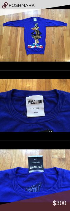 Moschino Couture Jeremy Scott Daffy Duck sweater This is a Moschino Couture Jeremy Scott Daffy Duck wool sweater, it is in excellent condition. Sweaters Crew & Scoop Necks