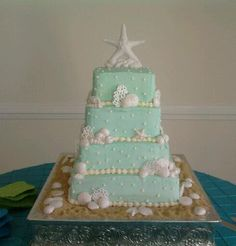 beach wedding cake - you could use belgian chocolate shells.  This would be easy to make.